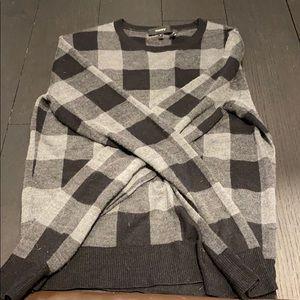 Theory checkered sweater